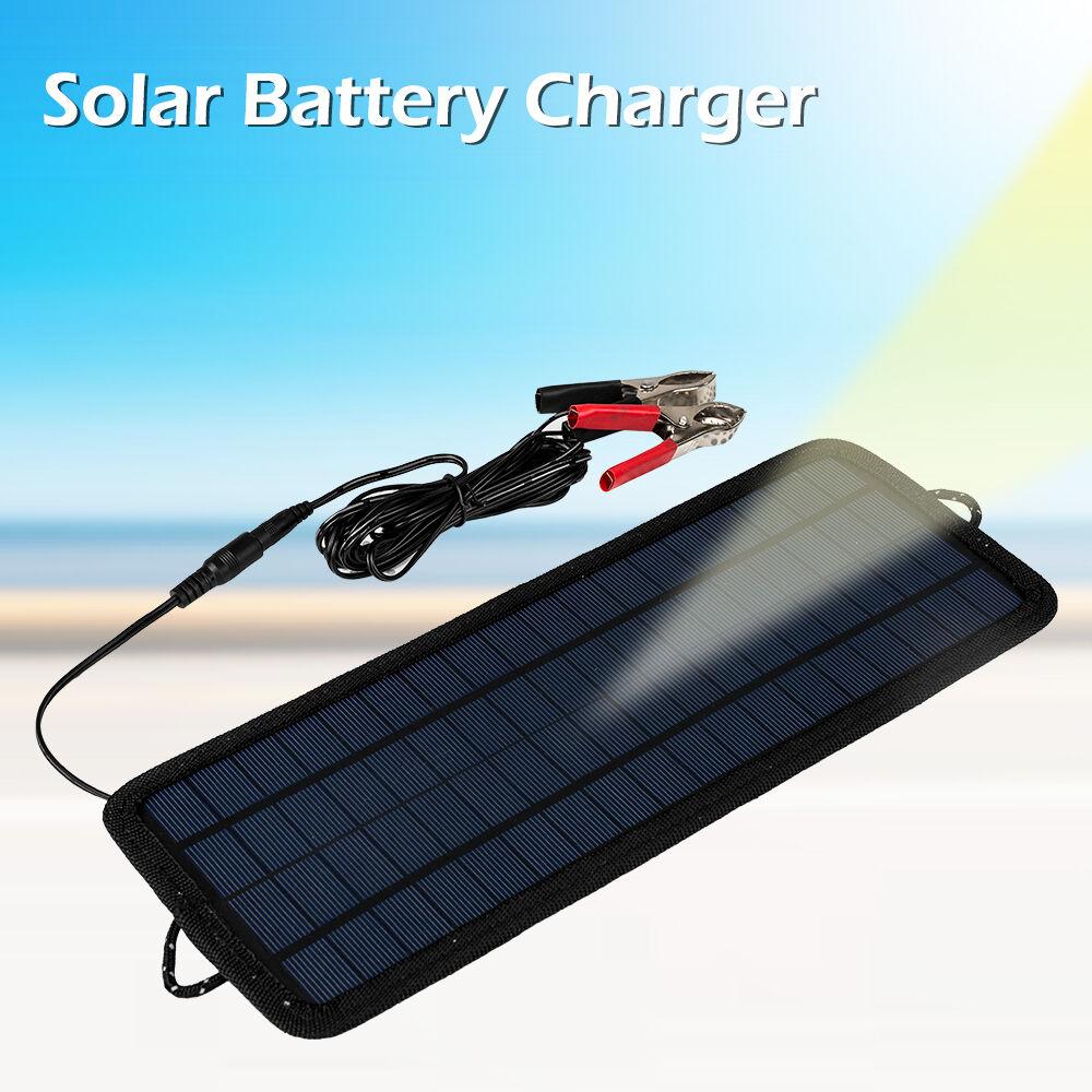 chargeur de batterie 4 5w 12v smart power panneau solaire pour voiture batterie ebay. Black Bedroom Furniture Sets. Home Design Ideas