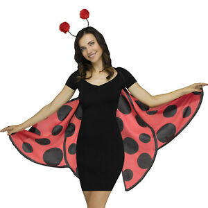 Fun World Halloween Spotted Ladybug Costume Wings, One Size, Red Black