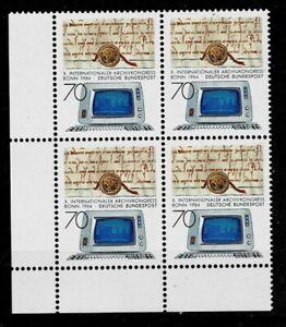 Doux Bund Brd Minr 1224 Cachet ** Groupe Bloc Coin 3-afficher Le Titre D'origine Produits De Qualité Selon La Qualité