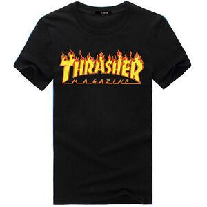 Shirt Thrasher Femme Homme Magazine T Hip Hop Skateboard Flamme De 54AS3cRqjL