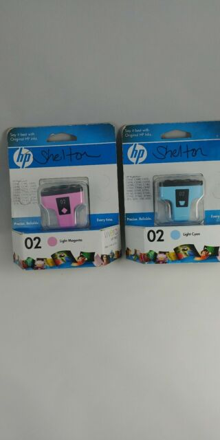 HP 02 magenta and cyan Ink Cartridges
