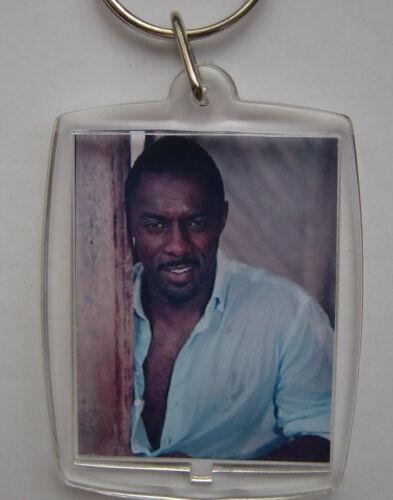 bag tag clear plastic, Idris Elba Photo Keyring