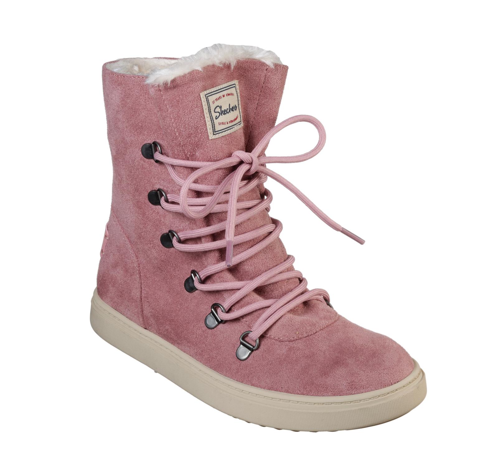 Skechers NEW Keepsneak Avalanche Rosa Rosa Rosa faux suede memory foam ankle Stiefel siz 3-8 6e1b27