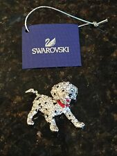 Swarovski Signed Crystal Silver Dalmation Dog Brooch RARE Only One on eBay