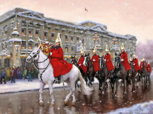 SSAFA-Christmas-Cards-Lifeguards-on-Parade-Pack-of-10-with-Envelopes