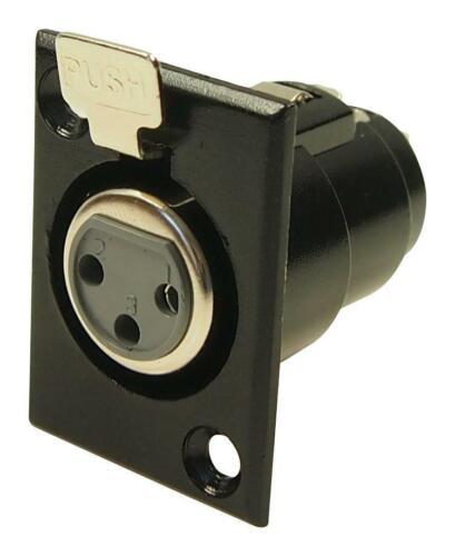 3 broches femelle XLR Socket-Cliff Composants électroniques