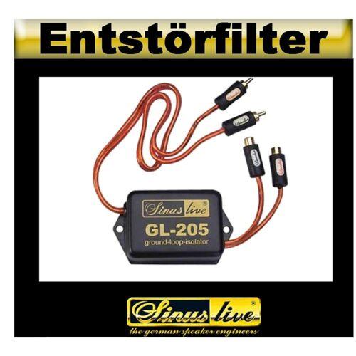 """Sinus Live entstörfilter /""""ground-loop-aislante/"""" trastorno libre transmisión de señal"""
