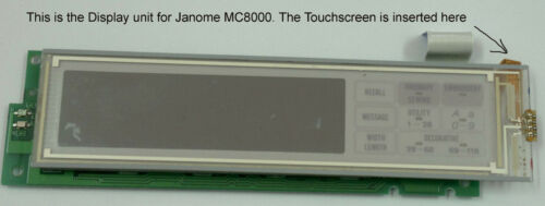 JANOME MC8000 TOUCH SCREEN