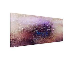 150x50cm Panoramabild Paul Sinus Art Abstrakt lila braun blau creme ...