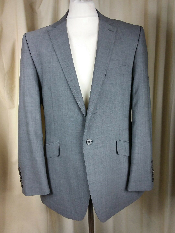 Alexandre Savile Row 100% Wool Geschäft Grau Suit C42R W37 L32