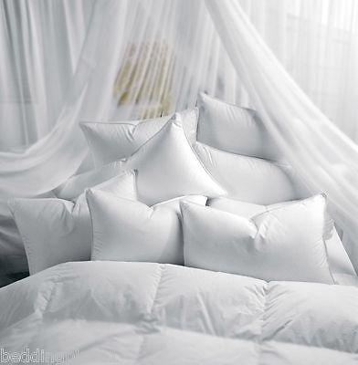 Luxury Pillow Duck & Goose Feather, Memory Foam, Satin Stripe, V Shape Pillows