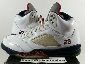 fdb61663b1d Nike Air Jordan 5 Independence Day Worn Olympic V Retro Olympics 4th ...