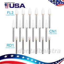 Usa3 Type Dental White Stone Polishing Burs Fg Aluminum Oxide Flameconeround