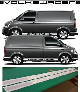 Details Zu Vw Transporter T6 Seiten Streifen Vw Dub T5 Kurzer Radstand Grafik Aufkleber