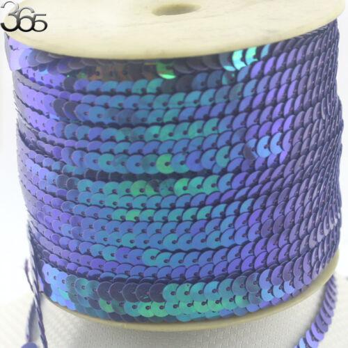 Bijoux Accessoires 6 mm bleu coin Connect Paillettes Bande Perles À faire soi-même Décoration