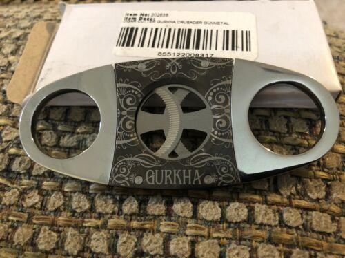 New Gurkha Crusader Cigar Cutter Chrome and Gunmetal