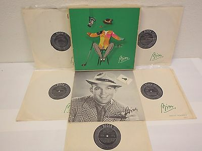 "BING CROSBY ""Bing"" 5-LP Vinyl Records w/Black Labels Box-Set w/Key Decca DX-151"