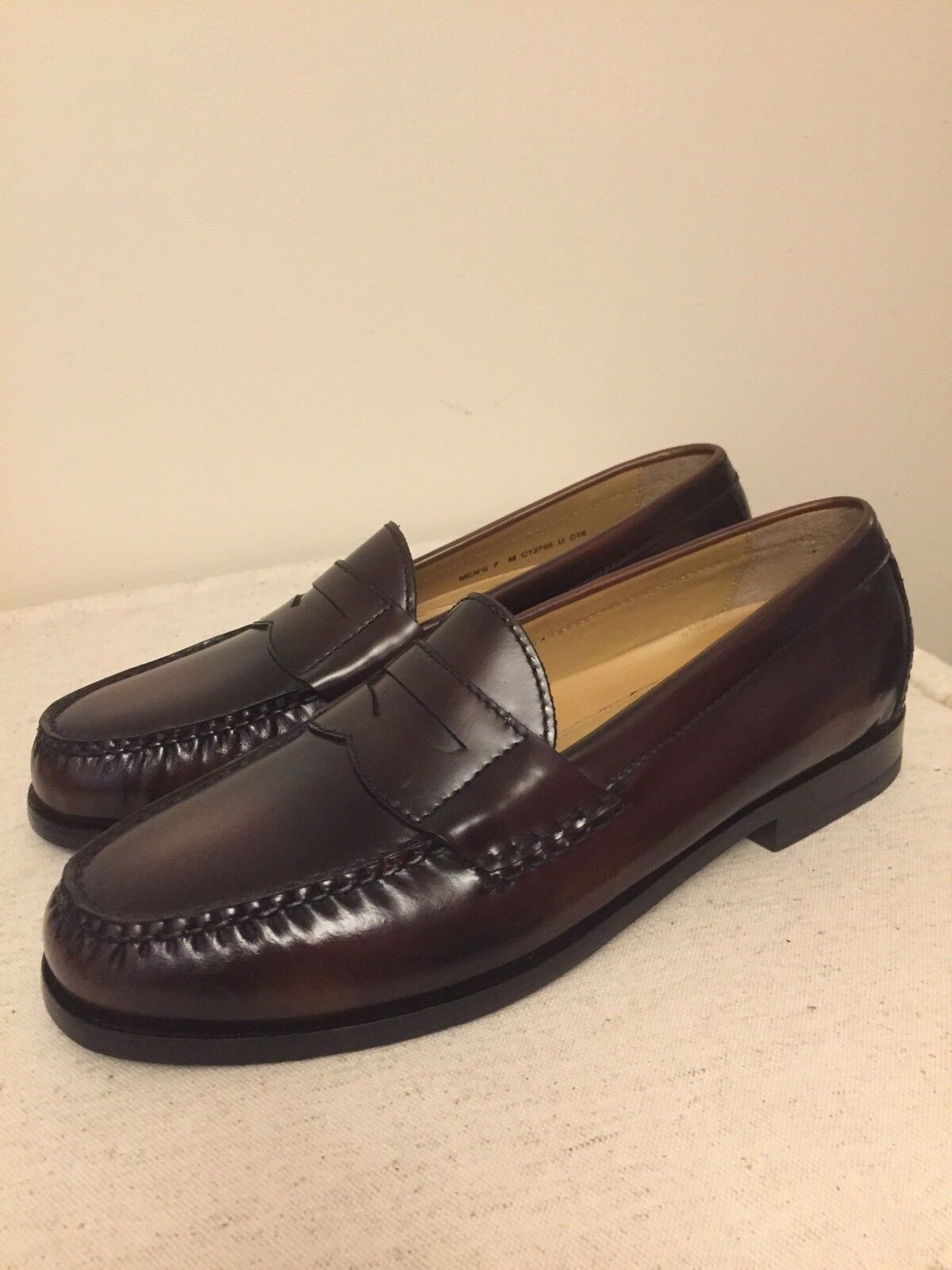 Cole Haan Men's Pinch Grand Hand Sewn Classic Penny Loafers Mahogany Size 7M