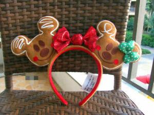 Disney Christmas Ears 2020 NEW Disney 2020 Christmas Holiday Gingerbread Ears Headband Mickey