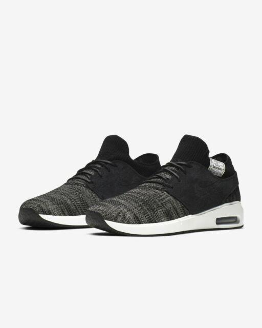 Brand New Mens Nike SB Air Max Stefan Janoski 2 Premium Black Summit White