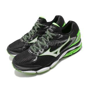 Mizuno-Wave-Ultima-8-Black-Green-White-Men-Running-Shoes-Sneakers-J1GC1609-02