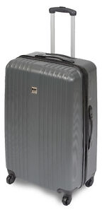 Koffer-ABS-Hartschale-Trolley-Reisekoffer-4-Rollen-360-Gr-XL-90-Liter-31-034-Grau