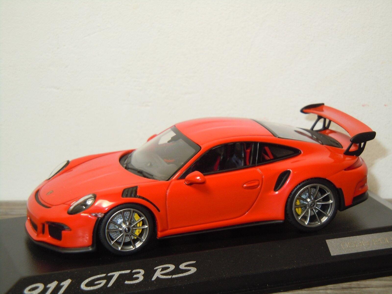 Porsche 911 991 GT3 RS Lava orange - Minichamps 1 43 in Box 30606
