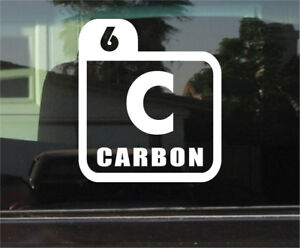 Carbon periodic table symbol vinyl decal sticker ebay image is loading carbon periodic table symbol vinyl decal sticker urtaz Gallery