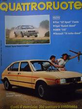 Quattroruote 319 1982  - TEST fiat 127 Sport 3°serie - BMW 315   [Q36]