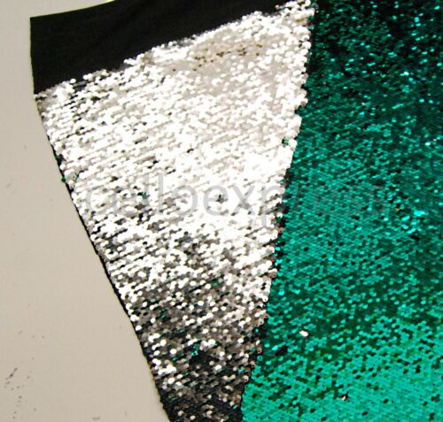 4mm Sequin Size Sold in Various Sizes Mermaid Fabric Reversable Sequins