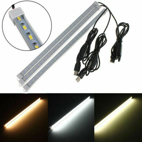 USB 40CM 24 SMD//5630 LED Rigid Strip Hard Bar Light On//Off Tube Lamp DC 5V 4W