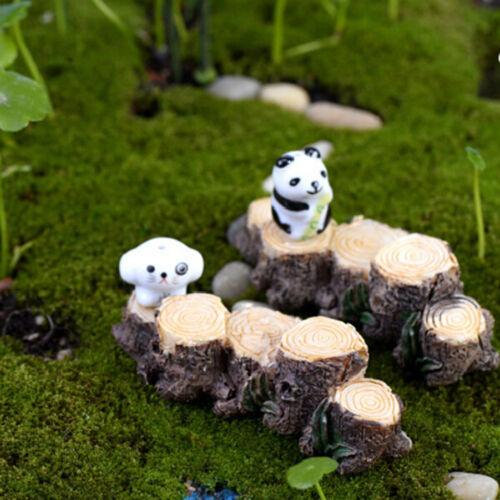 Miniature Resin Tree Stump Bridge Garden Fairy Ornament Flower Pot Plant Decor M