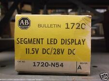 ALLEN BRADLEY NEW IN BOX 11720-N54 SEGMENT LED DISPLAY