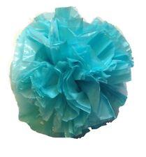 """25 Car Limo wedding Decoration Plastic Pom Poms Flower 4"""" - aqua"""