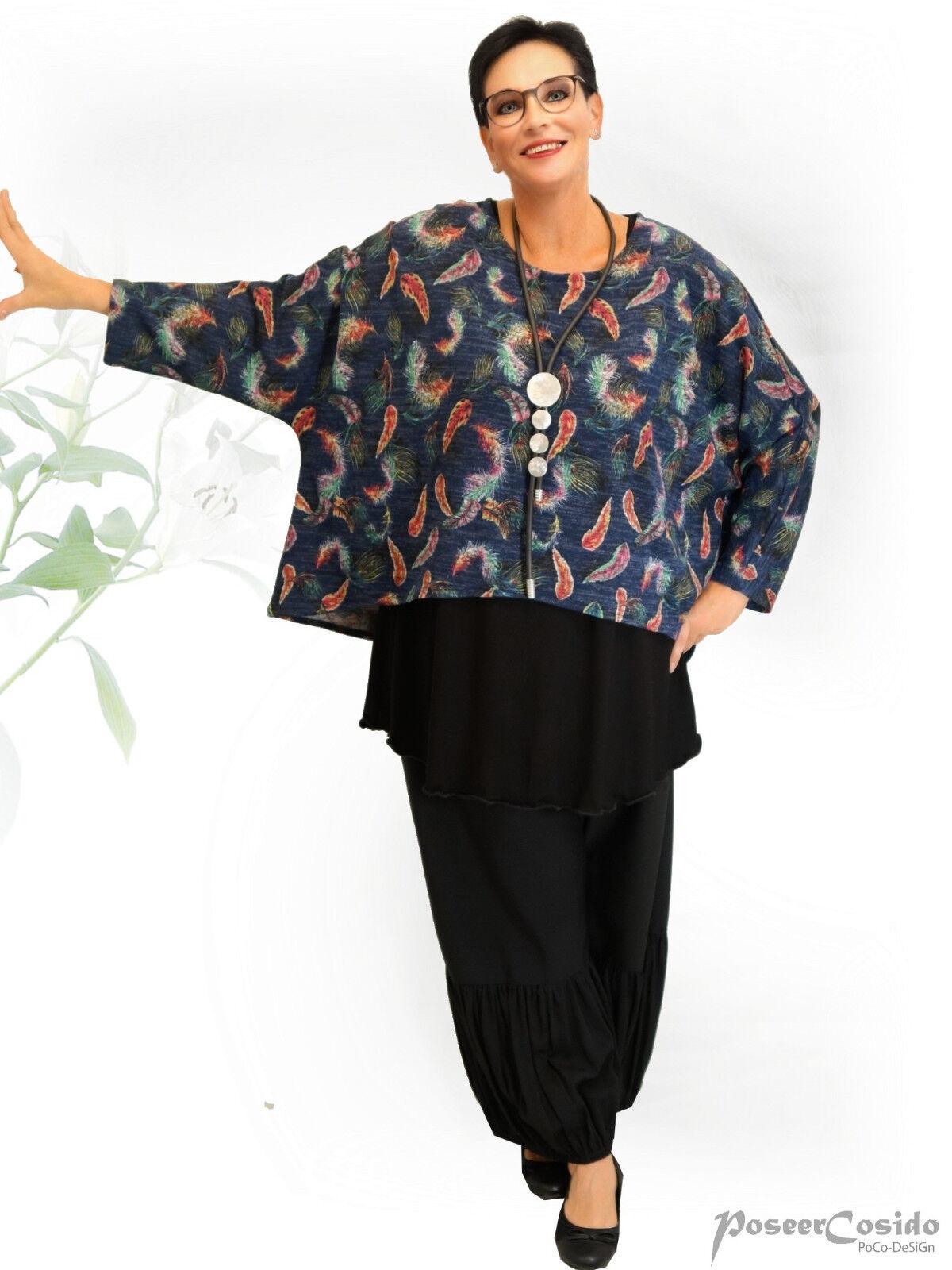 Poco design Lagenlook capelloni Pullover Pullover Pullover A Maglia Shirt tramite lancio ❷ FB L-XL-XXL-XXXL 4a9179