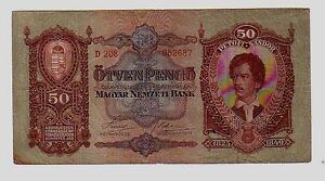 Ungheria-Hungary-50-pengo-1932-BB-Vg-Pick-99-lotto-640