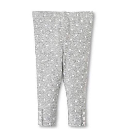 New Girls baby Top Polka dot gray leggings  Genuine by Oshkosh Clothes 18 months