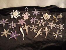 Vintyage...Lot of 21....Handmade....Christmas Beaded Ornaments