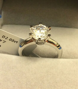 1.5 CT ROUND CUT DIAMOND SOLITAIRE ENGAGEMENT RING 14K WHITE GOLD ... ac76c7106055