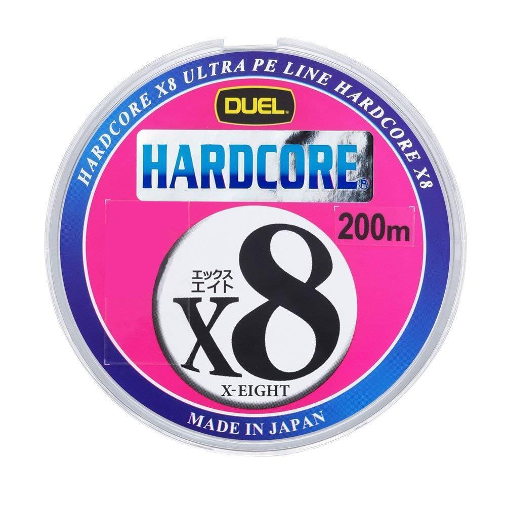 Nuevo duelo Hardcore X8 0.8-200m MultiColor 7kg 16lb Ultra PE 8 Trenza de línea Japón