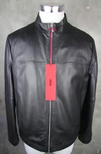 HUGO-BOSS-Luxury-Leather-Jacket-Laudin-L-Jacket-50-Black