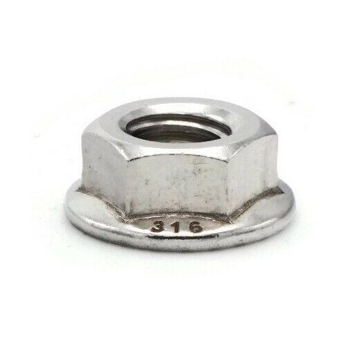 Flange Nuts Serrated Lock Nuts 316 Stainless Steel Marine Grade All Sizes /& QTYs