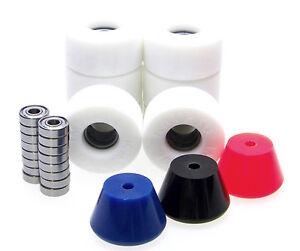 Rollschuh-Rollen-Stopper-ABEC-Lager-Set-Disco-Roller-Skate-Impulse-WHITE