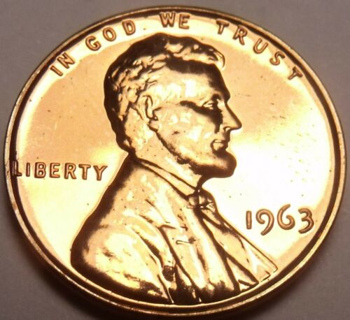 United States Proof 1963 Cent~We Have Hundreds Of Proof Coins~Free Shipping