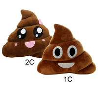 Poo Shape Cushion Smiley Big Eyes Poop Pillow Emoji Stuffed Toy Doll Home Decor