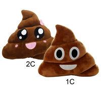 Poo Shape Smiley Big Eyes Poop Pillow Emoji Stuffed Toy Doll Home Decor 20/25cm