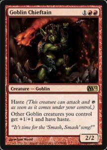1X FOIL Goblin Chieftain MTG Magic CORESET 2012 M12 138//227