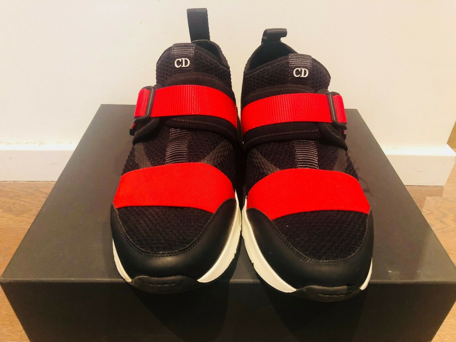 DIOR Homme Trainers (UK7) Red Black white