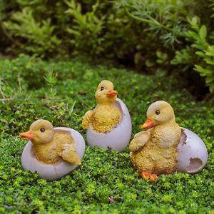 Un-ensemble-de-3-couver-Canard-Jardin-Ornements-oiseaux-ou-animaux-Fonction
