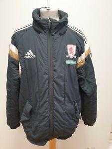 P667-Herren-Adidas-schwarz-Middlesbrough-ramsdens-Sport-Jacke-UK-M-EU-50